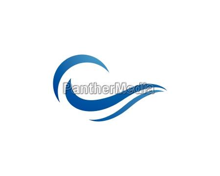wasserwelle logo vorlage