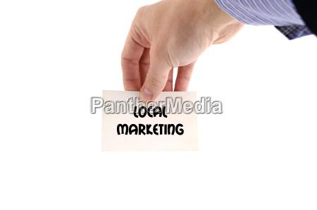lokales marketing textkonzept
