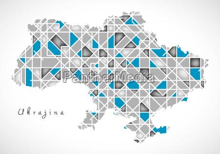 ukraine map crystal style artwork