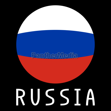 russian flag in globe form and