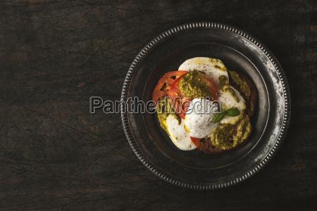 tomato and mozzarella salad in the