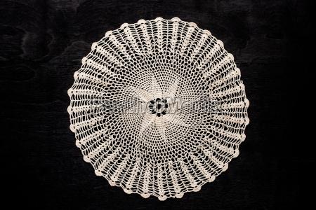 vintage round lace napkin on the