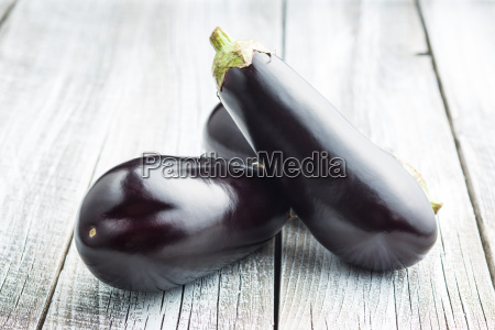 tasty fresh eggplants