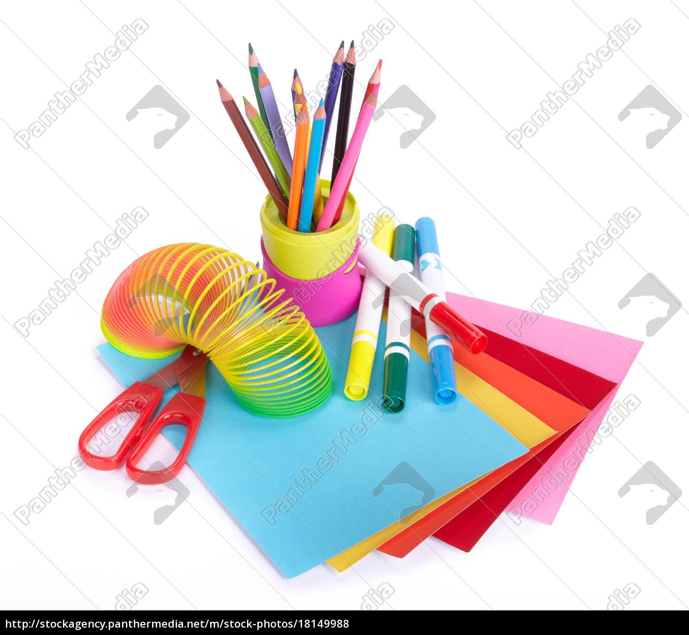 verschiedene, schulaccessoires, für, die, kreativität, der - 18149988