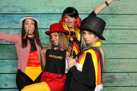 photobooth party with female soccer fans