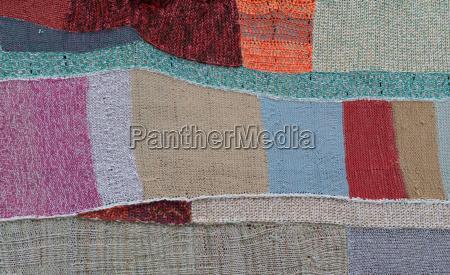gestrickte patchworkdecke