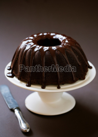 home baked chocolate cake