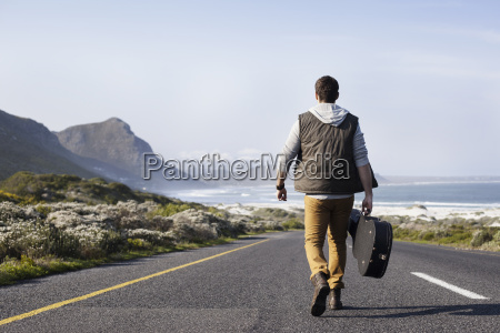 rear view of young man with