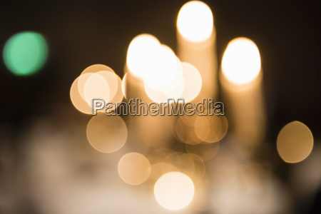 abstract of defocused street lights at