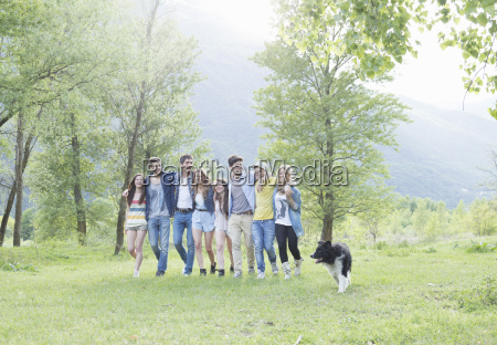 group of eight young adult friends