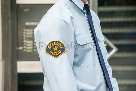 close up of security guard
