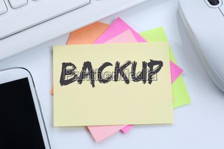backup sicherung daten sichern speichern schreibtisch