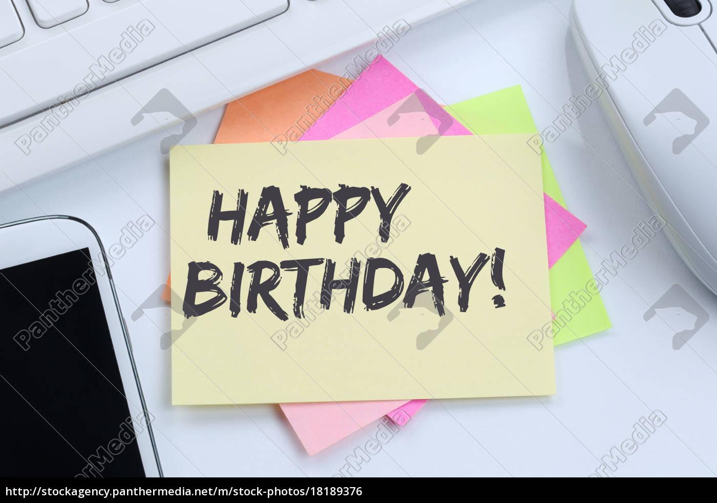 Happy Birthday alles Gute zum Geburtstag Arbeit - Lizenzfreies Foto ...