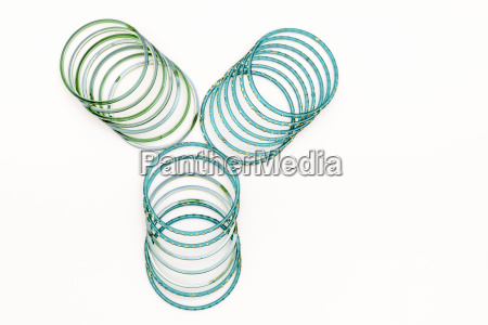 green and blue indian bangles