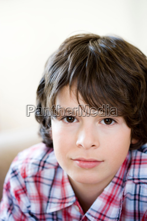 portrait young brunette boy