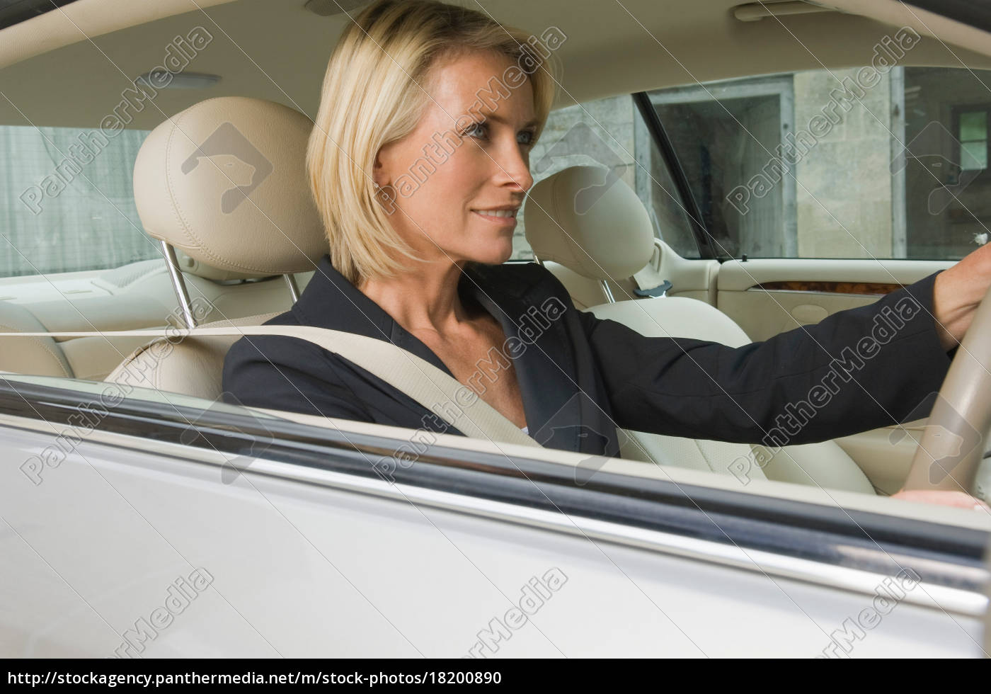 business-frau, auto, fahren - 18200890