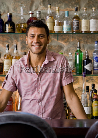 portrait of a male bartender