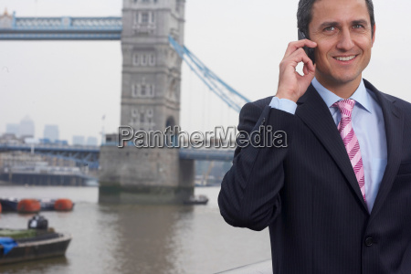 business man using a mobile phone