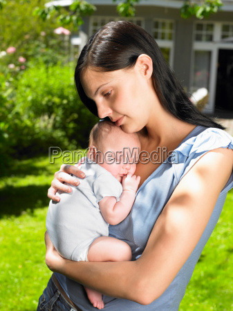 mother and baby boy in the