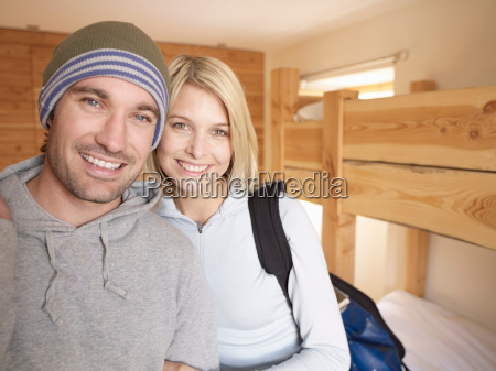 woman and man looking at viewer