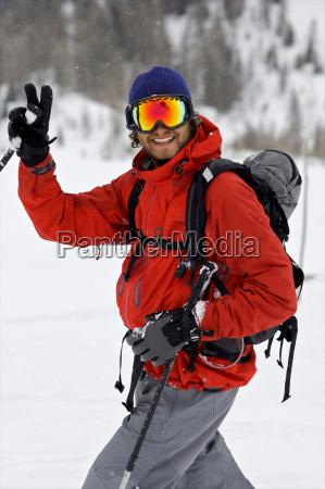 portrait of a skier