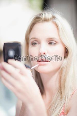 mädchen, tun, ihr, make-up - 18207108