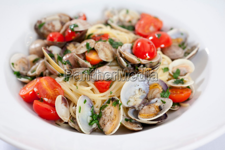 close up of plate of shellfish