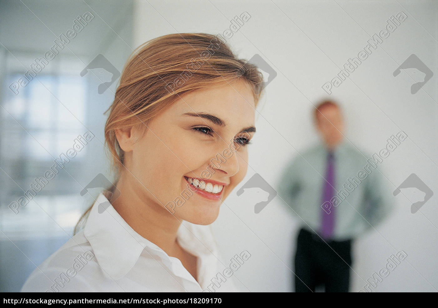close, up, of, businesswoman, smiling - 18209170