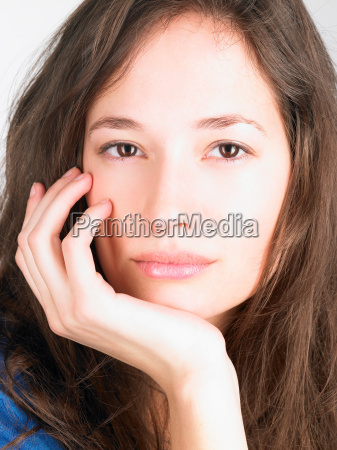 woman looking into the camera