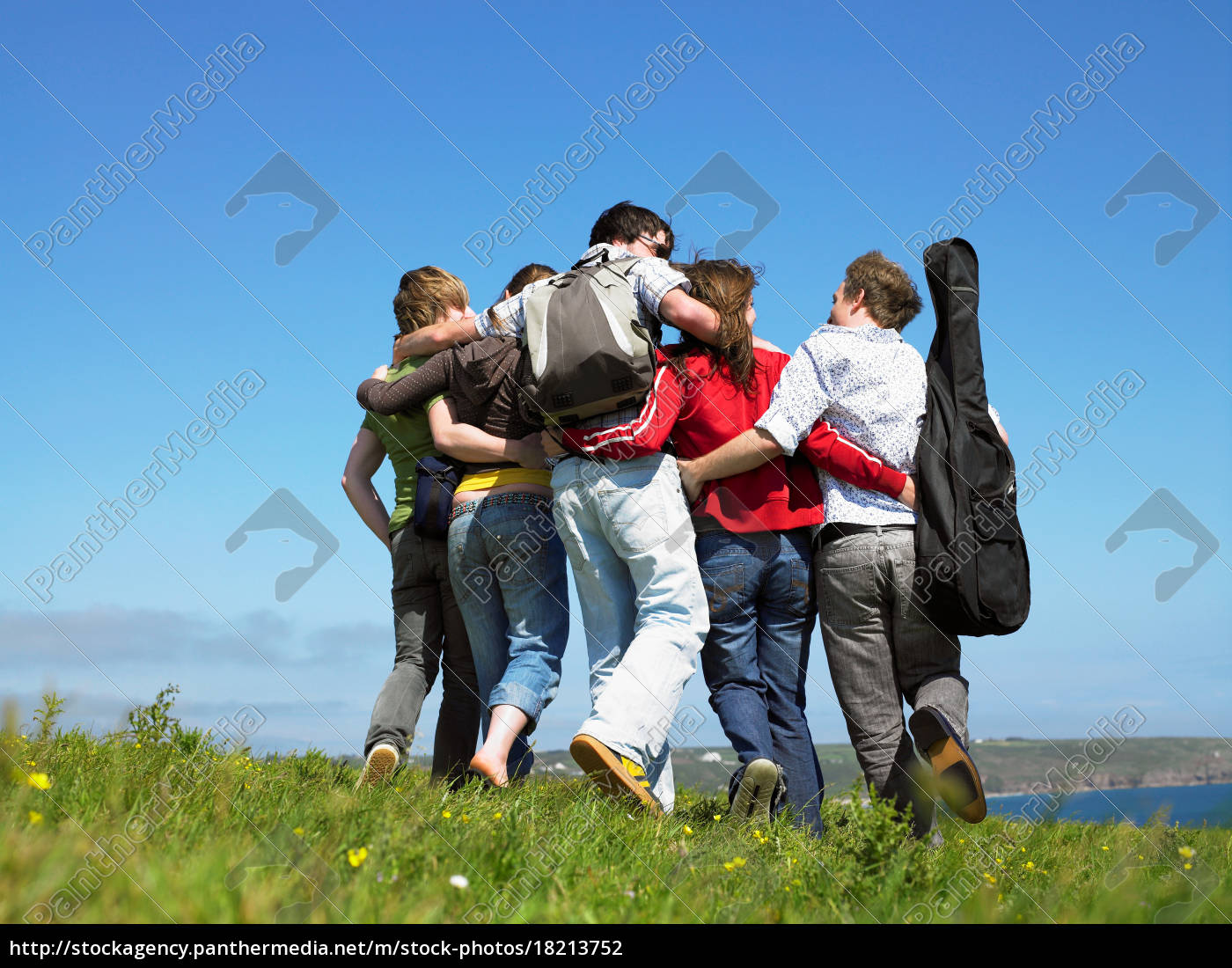 group, of, young, people, outdoors. - 18213752