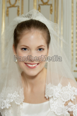 young bride smiling portrait
