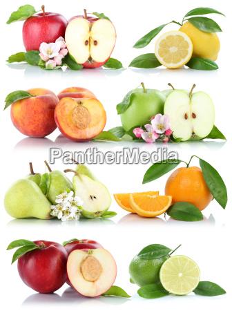 fruechte apfel orange zitrone nektarine AEpfel
