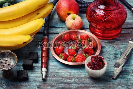 hookah and fruit