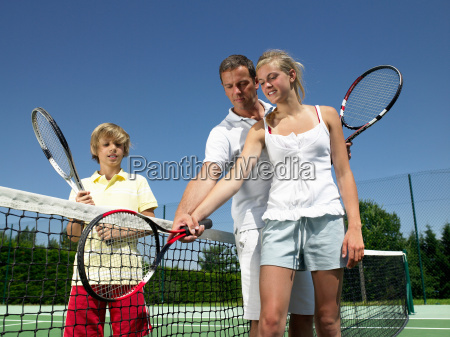 tennisstunde unter der hitze