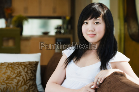 portrait of confident teen girl