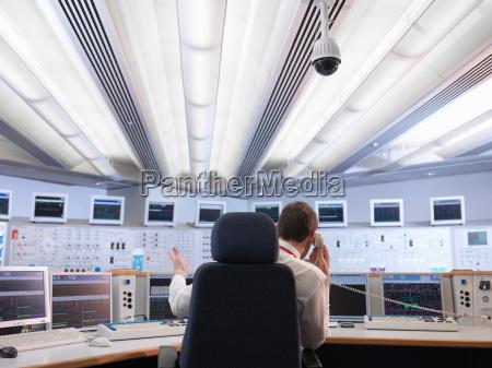 operator in kontrollraum