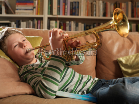 boy 11 playing trumpet