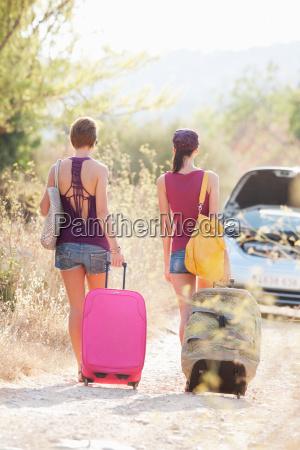 two women walking to their car