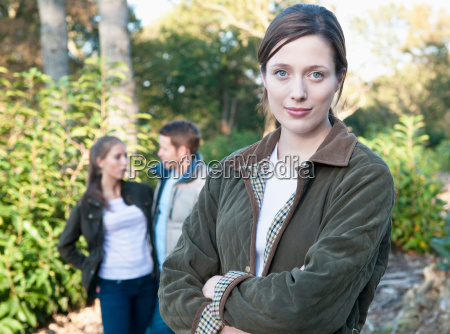 woman standing in park