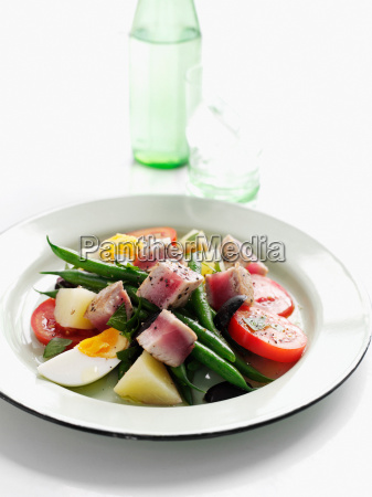 plate of summer fruit salad with