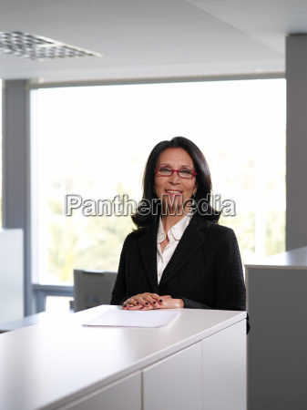 senior businesswoman in office