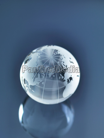 glass globe zur veranschaulichung von nordamerika