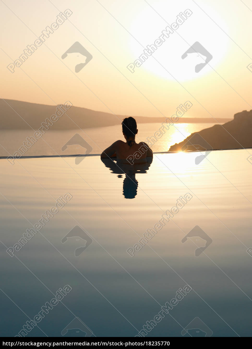 woman, in, swimming, pool - 18235770
