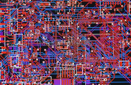 computer bildschirm mit einer elektronischen schaltung