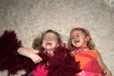 two girls dressed for a party