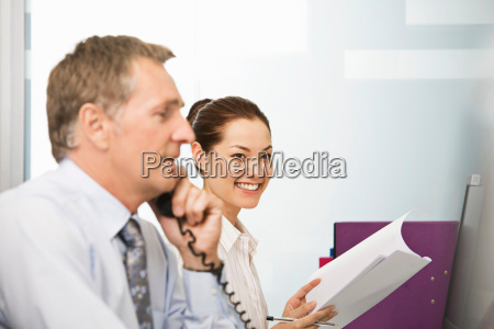 a young business woman at work