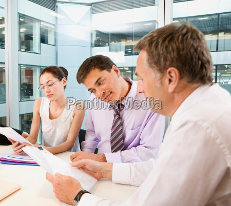 a business group in a meeting