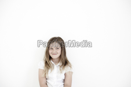 young girl smiling to camera