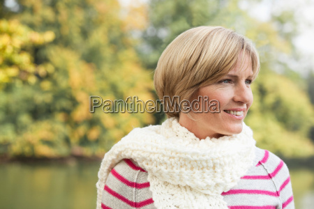 middle aged woman looking confident