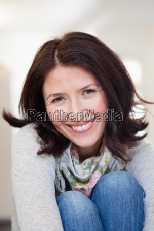 woman smiling at viewer